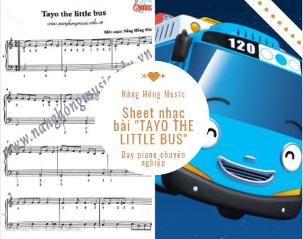 Sheet nhạc bài tayo the little bus